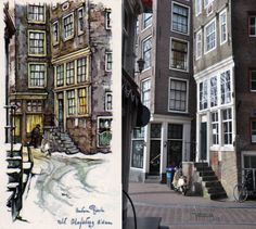 St. Olofsteeg, Amsterdam Anton Pieck, Amsterdam Art, French Country, Street View, Kunst, Country French