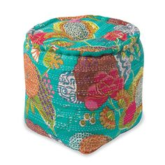 Floral Pouf Footstool