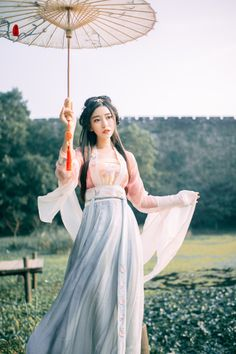 2018-summer-ancient-chinese-hanfu-clothing-women-chinese-folk-dance-costume-dynasty-tradition-silk-dynasties Chinese Clothing Traditional, Traditional Fashion, Traditional Dresses, Hanfu, Chinese Silk Dress, Xiao Li, Dynasty Clothing, Chinese Style, Dance Costumes