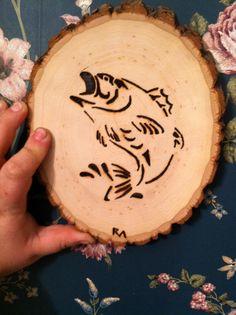 Fish Wood Burning by MartinWoodsDesigns on Etsy
