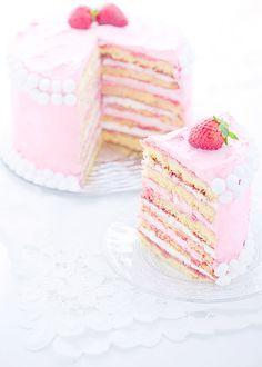 Layered strawberry cake...