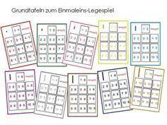 Unterrichtsmaterial, Übungsblätter für die Grundschule   Einmaleins Legespiel nach Montessori   online bestellen bei Niekao Lernwelten