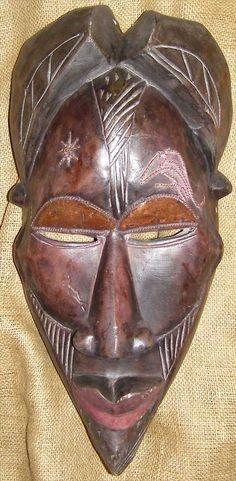 African Masks from the Tikar tribe. Tikar Mask This African Mask is inches tall. African Masks, African Art, African Sculptures, African Tribes, African Safari, My Heritage, Tribal Art, Headgear, Creative Inspiration