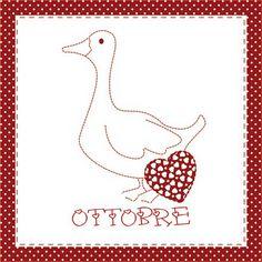 Teddy & Co.: stitch calendar  OCTOBER