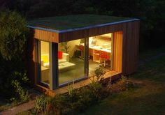 Collection of Best Small Prefab Homes, Prefab Cabins, Prefab Sheds, Backyard Studios and Backyard Offices Backyard Office, Backyard Studio, Garden Office, Outdoor Rooms, Nice Backyard, Prefab Sheds, Prefab Cabins, Contemporary Garden Rooms, Log Houses