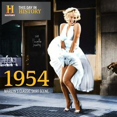 Sept. 15: On #ThisDayInHistory 1954, the famous picture of Marilyn Monroe, laughing as her skirt is blown up by the blast from a subway vent, is shot during the filming of The Seven Year Itch. The scene infuriated her husband, Joe DiMaggio, who felt it was exhibitionist, and the couple divorced shortly afterward.