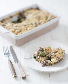 Spruitjes uit de oven met gehakt Healthy Diners, Quinoa Bars, Kitchen Queen, Skinny Kitchen, Risotto, Foodies, Recipies, Low Carb, Lunch