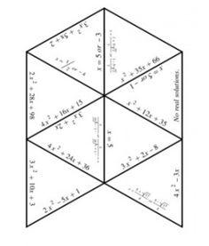 Solving Quadratic Equations using factoring and quadratic formula puzzle