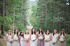 mis-matched bridesmaids   Jasmine Nicole Photography
