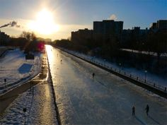 Skating on the canal and beavertails
