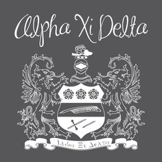 Alpha Xi Delta, Sorority, T-Shirt *All designs can be customized for your organization or chapter's needs!