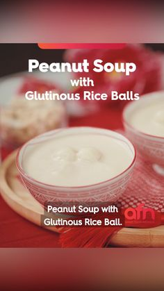 Peanut Soup with Glutinous Riceballs Chef Recipes, Food Network Recipes, Asian Recipes, Snack Recipes, Dessert Recipes, Cooking Recipes, Desserts, Asian Snacks, Asian Foods