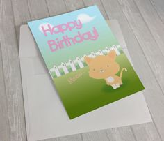 A perfect birthday card for cat lovers! #birthdaycard #happybirthday #etsy #printable #catlovers #cutebirthdaycard #funnybirthdaycard