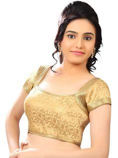 Fashion Kanya Designer Golden Brocade unstitched Blouse – voonik @ Rs.999