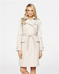 Badgley & Mishka for London Fog - Classic Trench Coat with Embellished Lapel