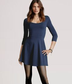 Just got a dress like this a few weeks ago from H &M, can't wait to pair with grey sweater tights and my new boots!