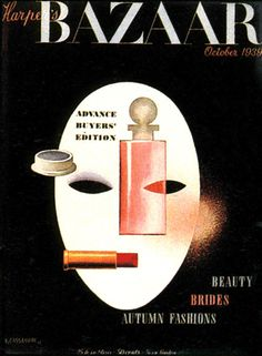 Harper´s Bazaar Magazine cover by A.M. Cassandre / October 1939. (commissioned by Alexey Brodovitch)