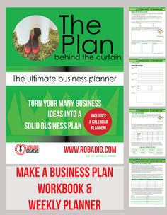 business planner workbook and weekly planner is perfect for small business owners wanting to get organized. Full of worksheets and workbook pages.
