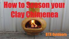 How to Season your Clay Chimenea - YouTube Cookers, The Creator, Clay, Seasons, Outdoor Decor, Youtube, Clays, Seasons Of The Year, Youtubers