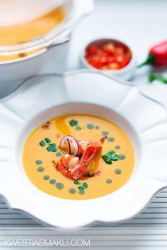 Zupa dyniowa ze śmietankąkokosową (mlekiem kokosowym) z chili i imbirem