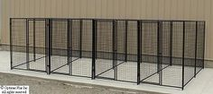 Durable non-chainlink fencing for individual runs and large play yard(s).