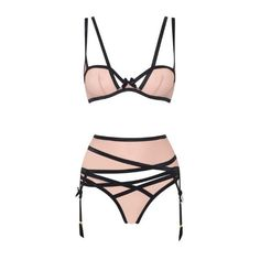 Agent Provocateur Joan Brief Nude/Black - 2 ($60) ❤ liked on Polyvore featuring intimates, panties, lingerie, underwear, brief, knickers, nude, agent provocateur, shiny lingerie and nude lingerie