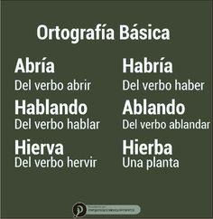 Ortografía básica Spanish Grammar, Spanish Language Learning, Spanish Teacher, Good Vocabulary, Spanish Vocabulary, Spanish Lesson Plans, Spanish Lessons, Writing Skills, Writing Tips