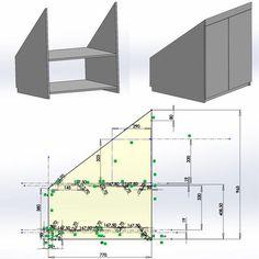 Technische Zeichnung der Schrankmodelle