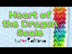 Rainbow Loom HEART of the DRAGON SCALE Bracelet-Reversible (Advanced). Designed by Amanda Cabrera. Tutorial and looming by TutorialsByA. Click photo for YouTube tutorial. 03/14/14.  ...