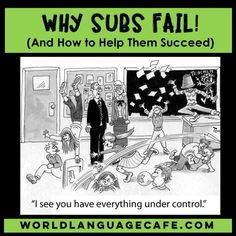 Why Spanish Sub Plans, French Sub Plans Fail to Work Why Spanish Sub Plans Fail (and How to Make Them Better). Get free, helpful sub forms to use in your French and Spanish Classes. World Language Cafe Spanish Activities, Teaching Spanish, Spanish Teacher, Teaching Resources, Vocabulary Activities, Teaching Aids, Teaching French, Teaching Tools, Spanish Lesson Plans