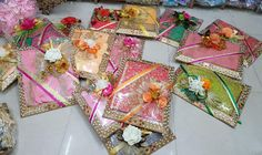 Wedding Gift Baskets, Wedding Gift Wrapping, Wedding Gift Boxes, Wedding Frames, Wedding Gifts, Baby Shower Gift Basket, Baby Shower Gifts, Khada Dupatta, Gift Wrapping Tutorial