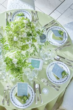 Tablescapes, Wedding Flowers, Table Settings, Wedding Inspiration, Merry, Table Decorations, Natural, Green, Image
