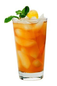 Imagen libre de derechos: Ice Tea with Lemon Isolated