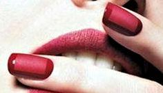 Red Hot Monochrome Cool Gel Nail Design Matte Gel Nails, Shellac Nails, Gel Nail Art, Easy Nail Art, Love Nails, Pretty Nails, Fun Nails, Red Nail Designs, Nail Polish Designs