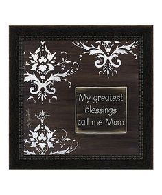 'My Greatest Blessings' Framed Wall Art | Daily deals for moms, babies and kids