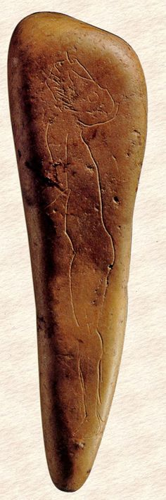 Human profile engraved on a pebble from la Madeleine Cave (France), 17,000 years BP Indian Artifacts, Ancient Artifacts, Ancient Aliens, Ancient History, Fresco, Art Pariétal, Paleolithic Art, Prehistoric Age, Ancient Discoveries