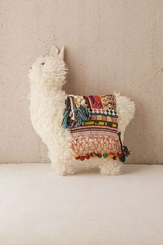 Slide View: 3: Furry Llama Pillow