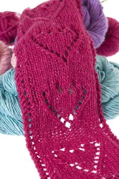 Eight by Six: Lace Heart Scarf (free knitting pattern)