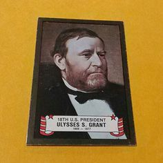 18TH U.S.PRESIDENT Ulysses S.Grant I HAVE A RARE OLD VINTAGE 18TH ULYSSES S.GRANT 1869-1877 CARD IN GOOD CONDITION IF YOU ARE A COLLECTOR THIS CARD IS FOR YOU 18TH U.S.PRESIDENT CARD Other