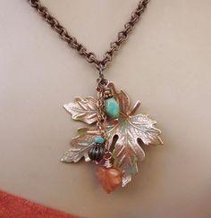 Beautiful Fall Leaf Necklace
