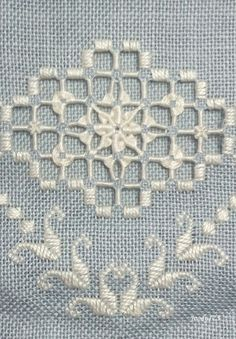 Hardanger Embroidery Patterns Whitework Embroidery: Smalls SAL with Stitching Lotus Local Embroidery, Hardanger Embroidery, Types Of Embroidery, Learn Embroidery, Hand Embroidery Patterns, Embroidery Stitches, Drawn Thread, Satin Stitch, Bargello