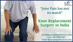 """""""Joint has met its Match""""  #KneeReplacementSurgery in India .... http://goo.gl/nMc9hG    We will be happy to provide any medical assistance.  Call us at +91-9810085065 or  mail us at: info@deepammeditours.com"""