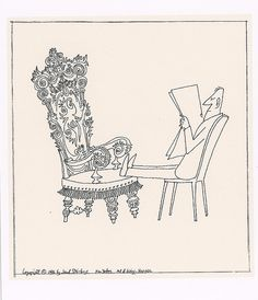 Chair by Saul Steinberg  In the Morgan Library exhibit, 2007