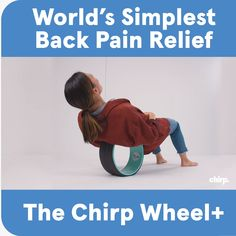 The Chirp Wheel+ is designed to fit perfectly between your shoulder blades, giving you relief right where it aches. The 3 different sizes provide you with 3 levels of insanely relaxing pressure. It's back pain relief that won't break the bank. Health And Wellness, Health Fitness, Natural Hand Sanitizer, Chocolate Slim, Back Pain Exercises, Relieve Back Pain, Back Pain Relief, Sciatica, Massage Therapy