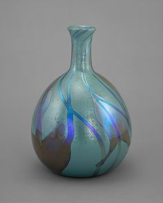 Vase designed by Louis Comfort Tiffany, Tiffany Glass and Decorating Company, New York City, New York, American favrile glass, circa 1893-1896
