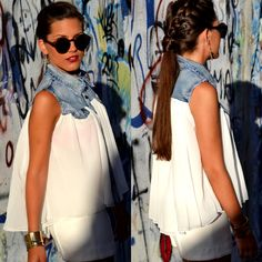 Pure Lovers. Love the blouse, love the hair!