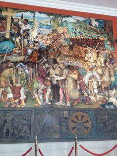 La conquista!! por Diego Rivera
