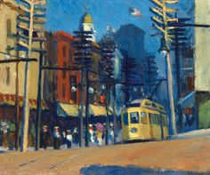 Yonkers Edward Hopper 1916 Whitney Museum of American Art - New York, NY (United States) Painting - oil on canvas American Realism, American Artists, Toulouse, Edward Hopper Paintings, Ashcan School, Robert Rauschenberg, Whitney Museum, David Hockney, Painting Art