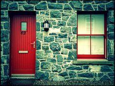 Irish red door