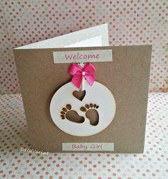 baby girl card, just born card, new baby card, rustic baby girl card, new baby girl card, rustic new baby card, baby card